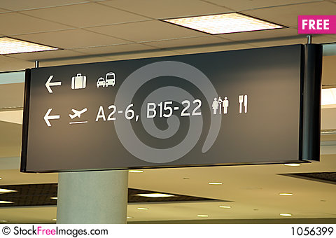 Free Airport Sign Royalty Free Stock Images - 1056399