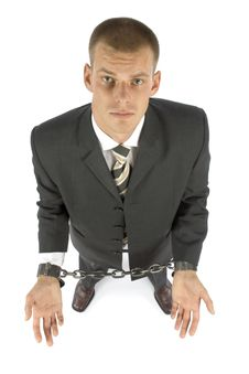 Free Chained Businessman Stock Photo - 1050680