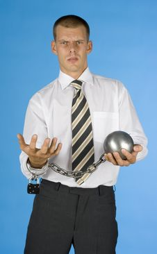 Free Chained Businessman Royalty Free Stock Photography - 1050747