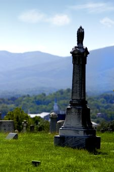 Mountainside Cemetery Stock Photography