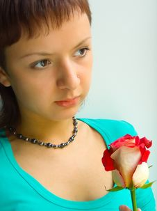 Girl With Rose Royalty Free Stock Images
