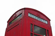 Free British Telephone Box Stock Photography - 1053192