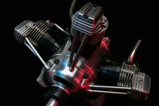 Free Model Aircraft Engine Royalty Free Stock Photography - 1054307