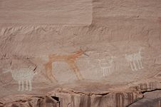 Free Navajo Rock Paintings Royalty Free Stock Photo - 1055025