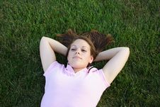 Laying In The Grass Royalty Free Stock Photos