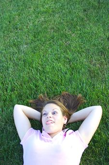 Laying In The Grass Stock Photos