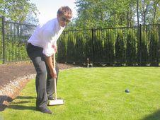 Free Jonny Plays Croquet Stock Photo - 1055730