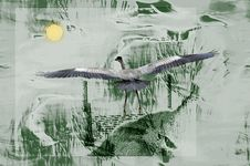 Free Heron On Abstract Stock Photos - 1055733
