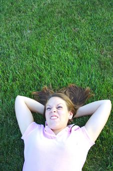 Laying In The Grass Royalty Free Stock Images