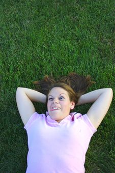 Laying In The Grass Royalty Free Stock Photography