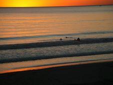 Free Orange Sunset Royalty Free Stock Image - 1055886
