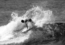 Free Surfing Black And White Stock Images - 1056114