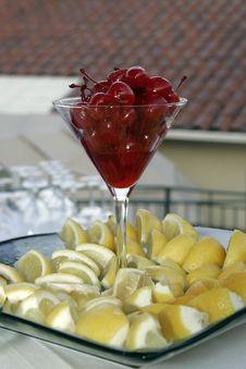Free Cherries And Lemons Stock Photography - 1056162