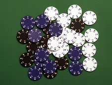 Free Casino Chips Royalty Free Stock Image - 1056296