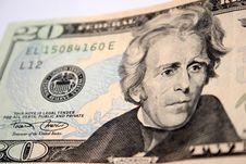 Free American Twenty Dollar, Andrew Jackson Stock Photography - 1056492