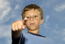 Free Child Pointing Stock Photo - 1057240