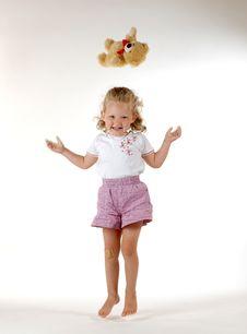 Free Girl With Bear Stock Photos - 1057423