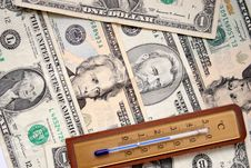 Free Dollars And Thermometer Stock Photo - 1057670
