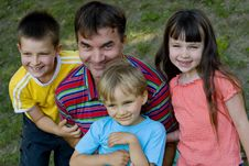 Free Children With Uncle Stock Photo - 1057980