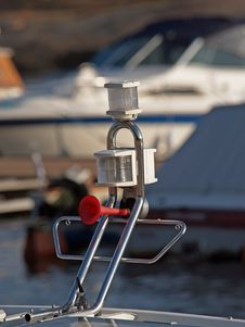 Free Horn And A Signal Lamps On A Yacht Stock Photography - 1058422