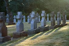 Free Mt. Angel Abbey Cemetery Royalty Free Stock Image - 1058706