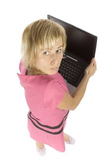 Free Woman With Laptop Stock Photo - 1058740