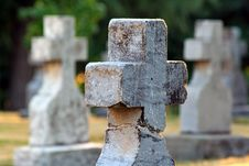 Free Mt. Angel Abbey Cemetery Royalty Free Stock Photography - 1058997