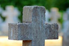 Free Stone Cross,Mt. Angel Abbey Cemetery Royalty Free Stock Photos - 1059008