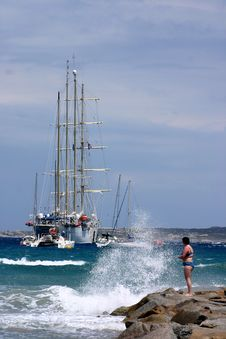 Corsican Beach Stock Photo