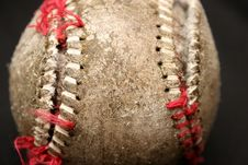 Used Baseball Royalty Free Stock Photo