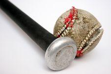 Free Baseball And Bat Royalty Free Stock Image - 1059726