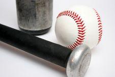 Free Baseball And Bats Royalty Free Stock Photo - 1059755