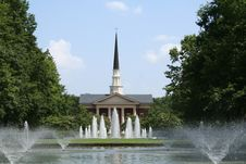 Free Chapel With Fountains Stock Photo - 1059790