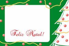 Free Cartão De Natal Com árvore E Enfeites Natalinos Stock Images - 105141464