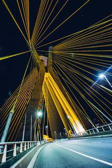 Free Bridge, Evening, Highway, Light Royalty Free Stock Photo - 105282545