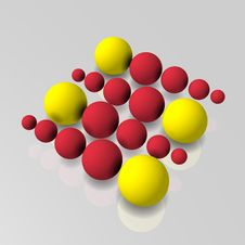 3d Math Color Balls Royalty Free Stock Photography