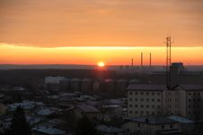 Sunrise Over The Old City Royalty Free Stock Images