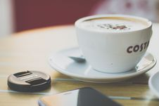 Free Beverage, Caffeine, Cappuccino Stock Images - 105608434