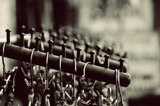 Free Grayscale Photography Of Hangers On Rack Royalty Free Stock Images - 105662379