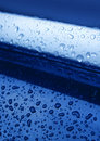 Free Water Drops On Blue Metal Stock Images - 10575864