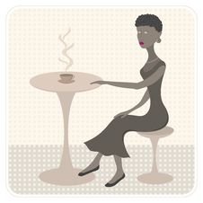 Free African Girl In Cafe Royalty Free Stock Photos - 10574978