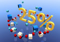 Free Twenty-five Percent Sign Royalty Free Stock Photos - 10582928