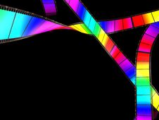 3d Rainbow Lent Strip Color Background Stock Photography