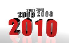Free 3D 2010 Red Royalty Free Stock Images - 10582899