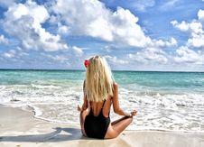 Free Beach, Bikini, Blonde Stock Photography - 105823992