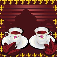 Free Tea Pot With Tea Leafes Royalty Free Stock Image - 10597646