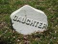 Free Gravestone Daughter Stock Photos - 1061163