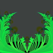 Abstract Background Template Of Green Leaves On Black Stock Photography