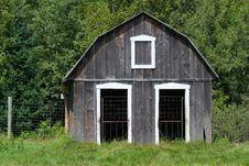 Small Barn Royalty Free Stock Photos