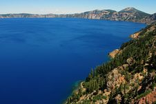 Free Crater Lake Blue Royalty Free Stock Images - 1061029
